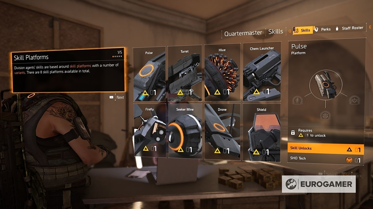 The Division 2 Skills and Perks - the best Skills and best Perks in