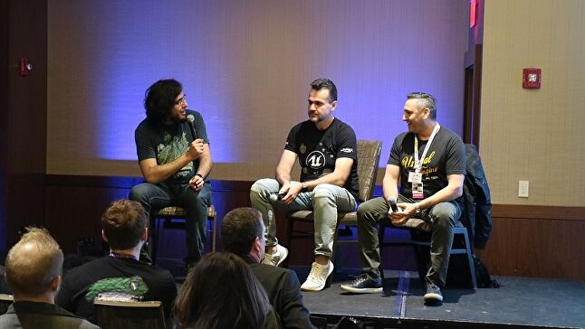 Ismail (left) asked questions of Galyonkin (center) and Stelzer (right)