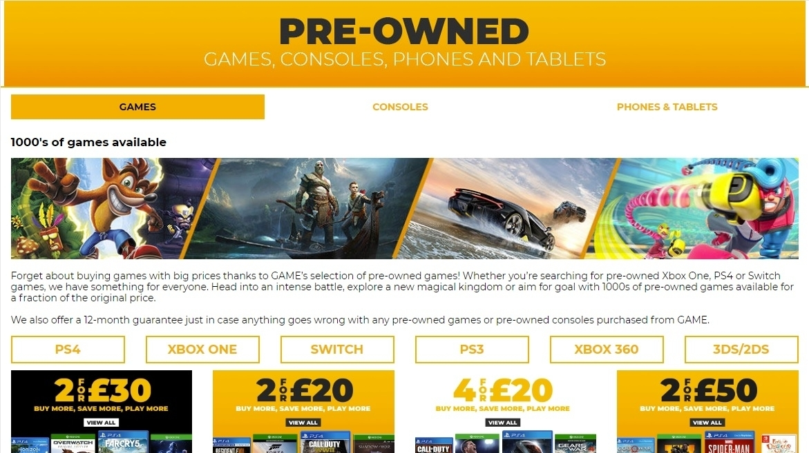 Pre Owned Game Sales Are In Freefall In The Uk Eurogamer Net