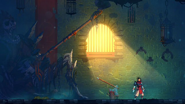 In Dead Cells, the protagonist's body may be defeated at the end of each run, but their head makes its way back to the start to begin anew