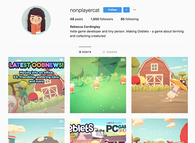 Instagram can be used to great effect to show off the visual style of your game and make it instantly recognisable
