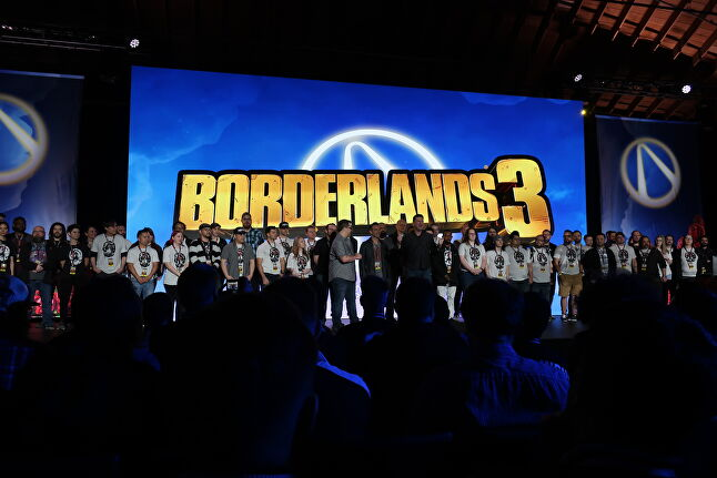 At the Borderlands 3 reveal event, a portion of the game's approximately 350 developers gathered onstage