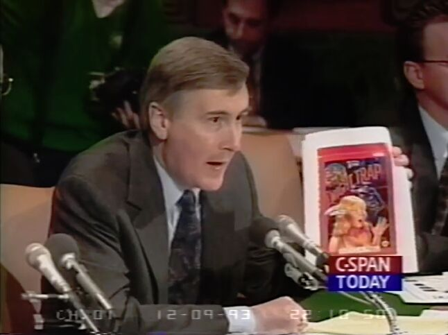 Howard Lincoln used his time in front of Congress to attack Sega for allowing Night Trap on the Sega CD