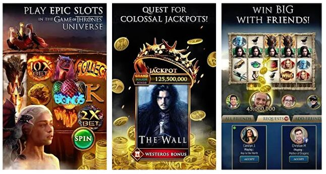 Promotional images for Game of Thrones Slots Casino