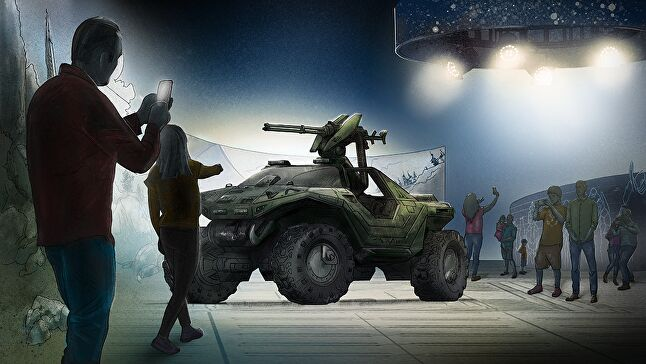 The Halo Outpost Discovery experience is designed to attract fans, their friends and their families -- including children