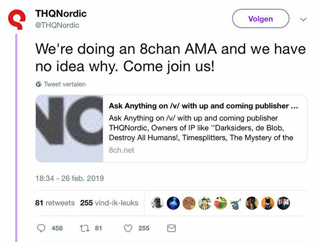 THQ Nordic's controversial use of 8chan puzzled many PR professionals