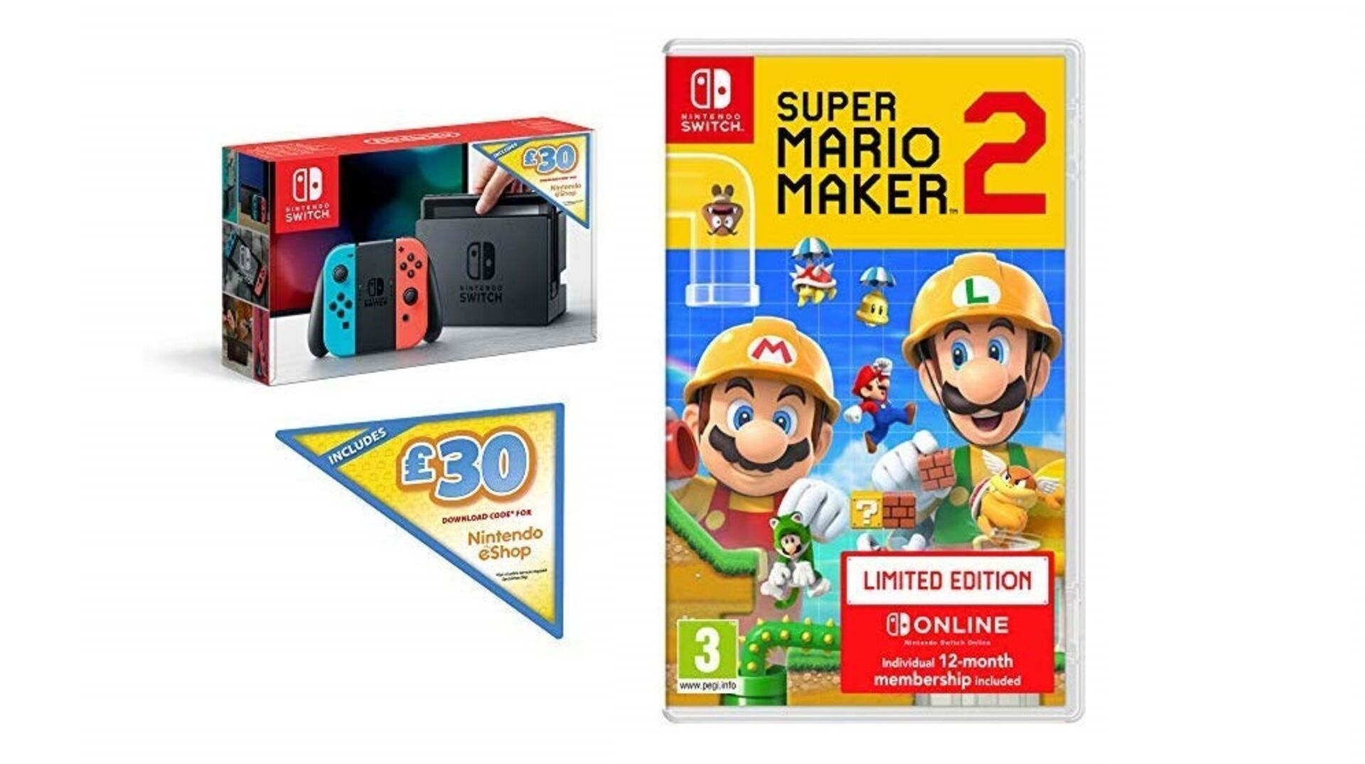 This Nintendo Switch deal includes Mario Maker 2, 12 months