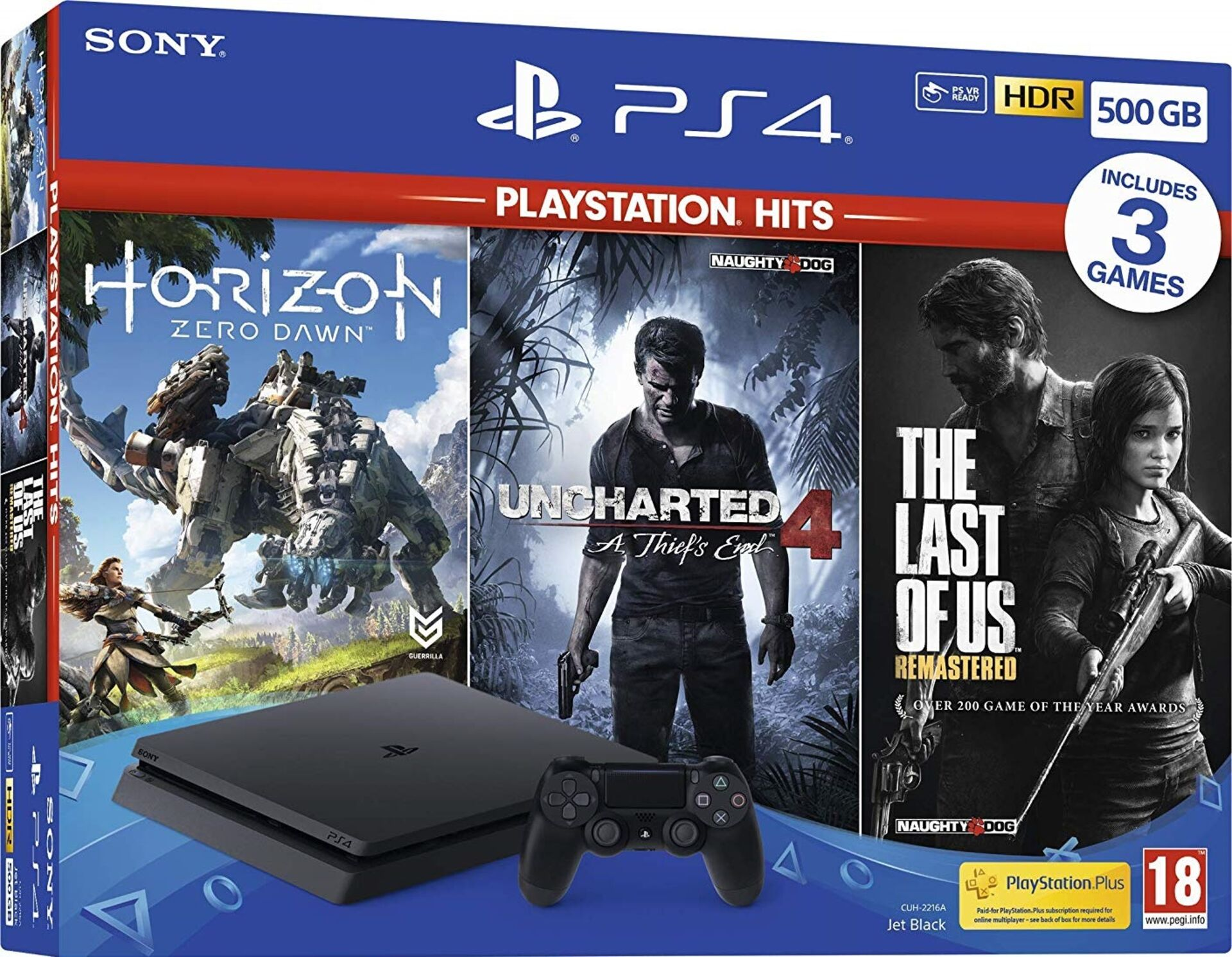 A Ps4 With Horizon Zero Dawn Uncharted 4 And The Last Of Us Is