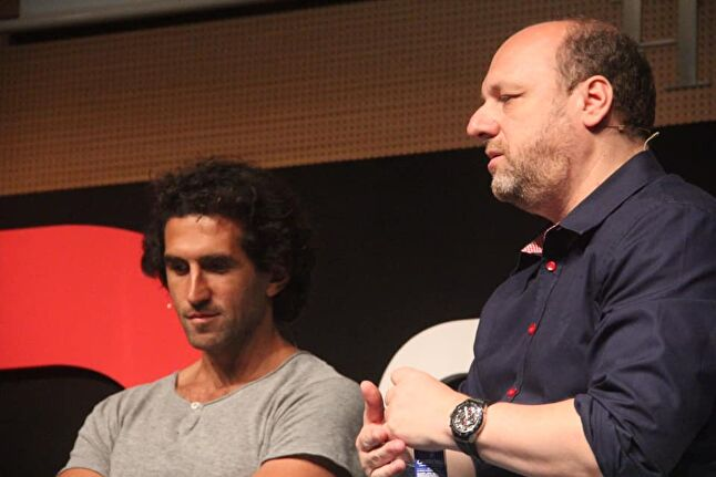 Josef Fares and David Cage speaking at Gamelab in Barcelona