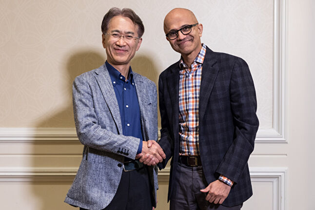 The partnership between Sony and Microsoft is evidence that Nadella's strategy will go according to plan