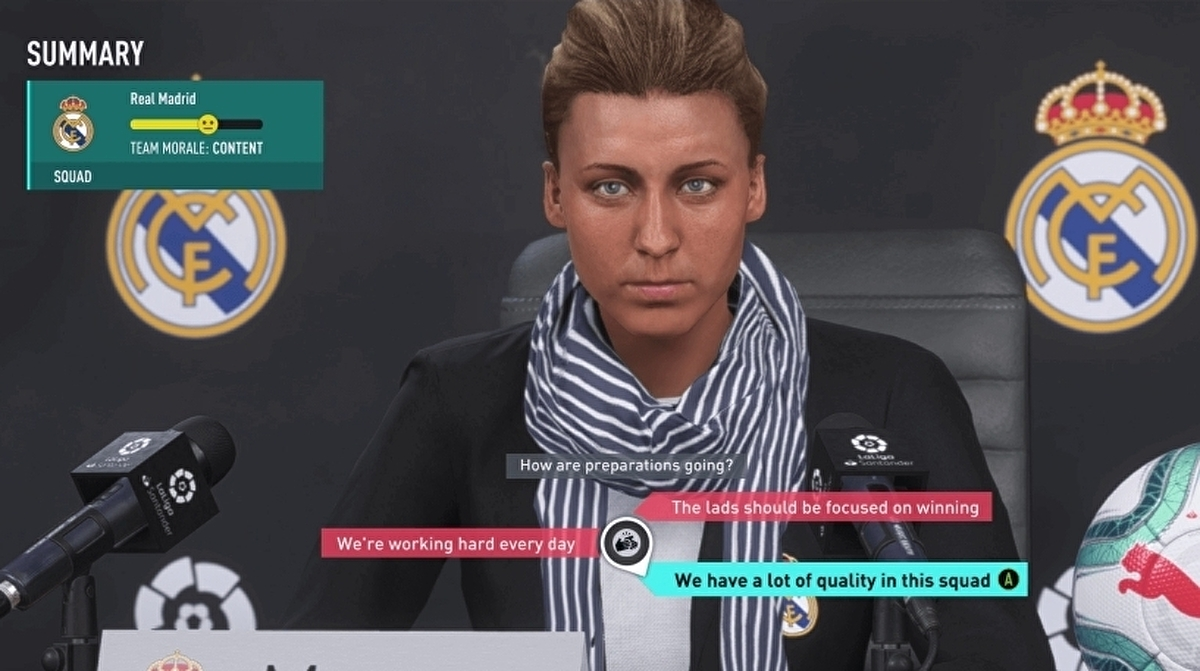 In a series first, FIFA 20 lets you create female managers