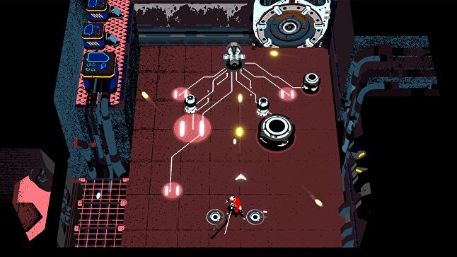 Weapons are used to charge, launch, and deflect projectiles that can be used to damage enemies, activate switches, solve puzzles, and power the facility