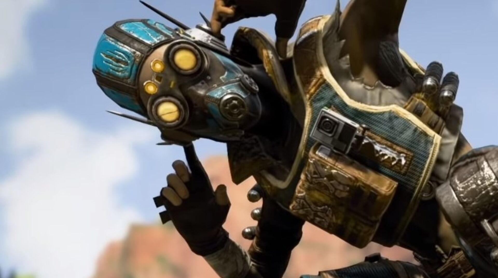 Octane's taken over a town in the leaked Apex Legends event