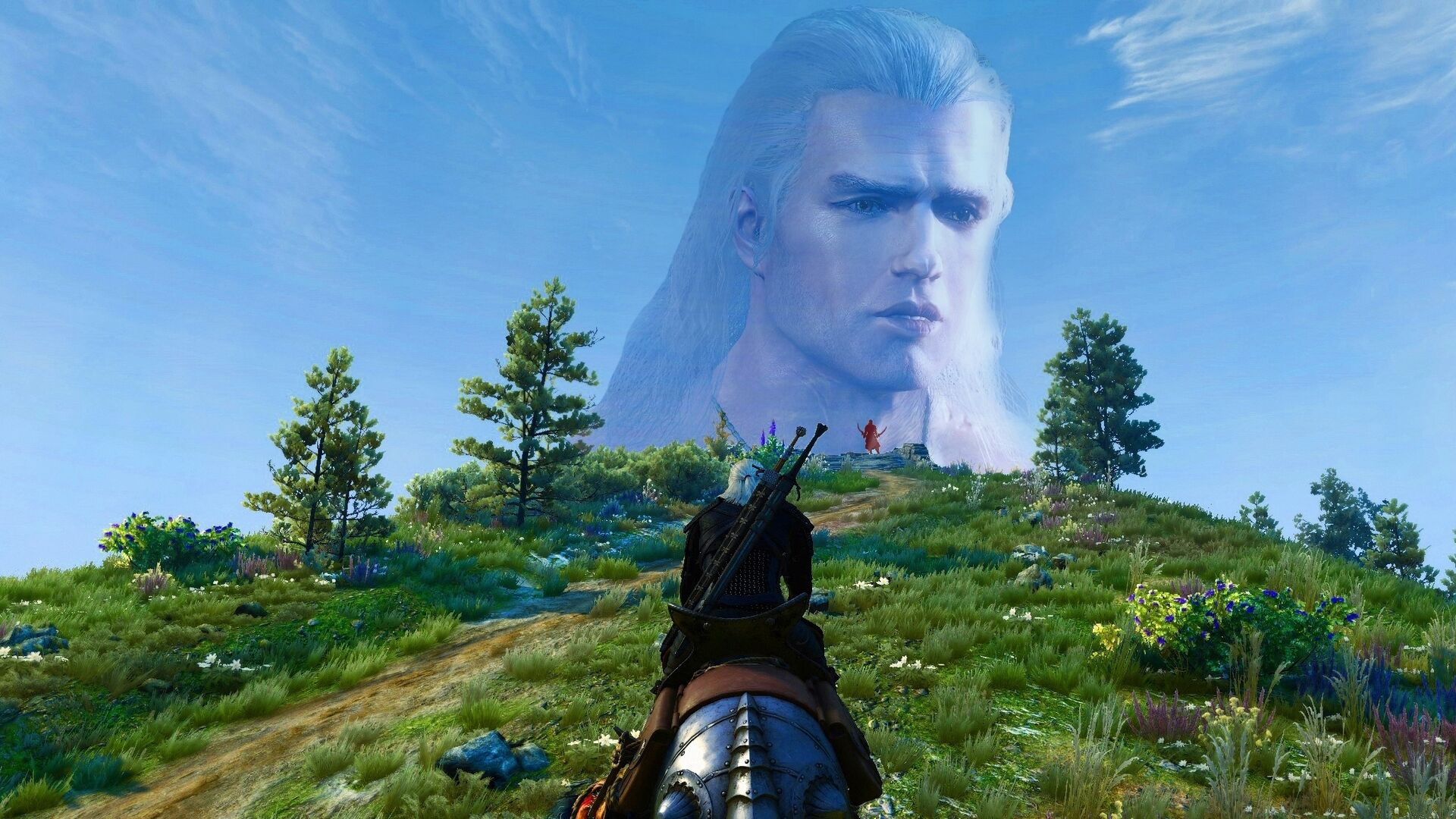 A new mod for The Witcher 3 sticks Henry Cavill's face onto