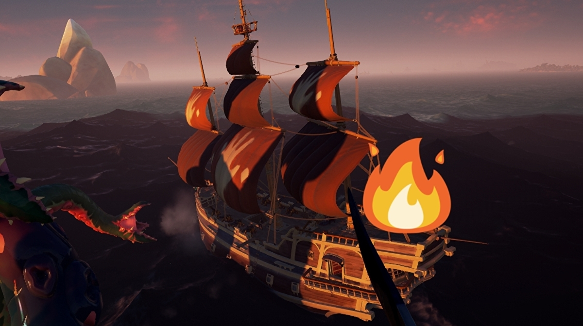 Rare unofficially announces fire for Sea of Thieves