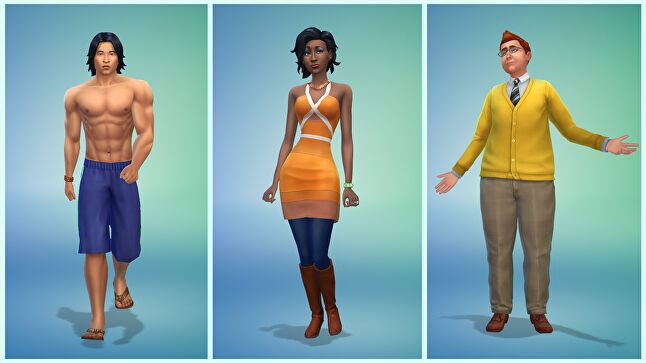 The Sims 4 includes numerous ways to customize your sim, from choosing gender presentation to click-and-drag adjustable body types to numerous skin, hair, and clothing options