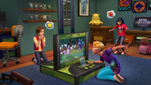 At launch, one major criticism of the game was its lack of options for interacting with very young children. EA Maxis addressed this issue in a free update shortly after release
