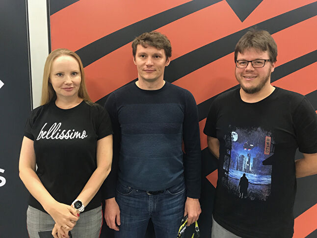 Left to right: My.Games' Elena Grigoryan, Rodion Kotelnikov and Volker Boenigk