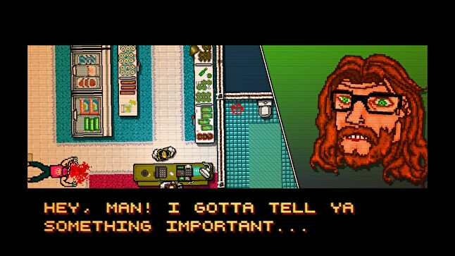 Wilson used the Devolver-published Hotline Miami as an example of a violent game that also asked the player to think about their role in that violence