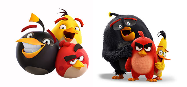Over time, Rovio has changed the design of its characters - ultimately mirroring that of the movies - as a way to keep the brand fresh