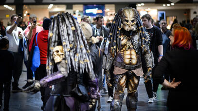 Predator cosplay spotted in the crowds