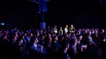 Hitman in the crowd at the EGX Theatre