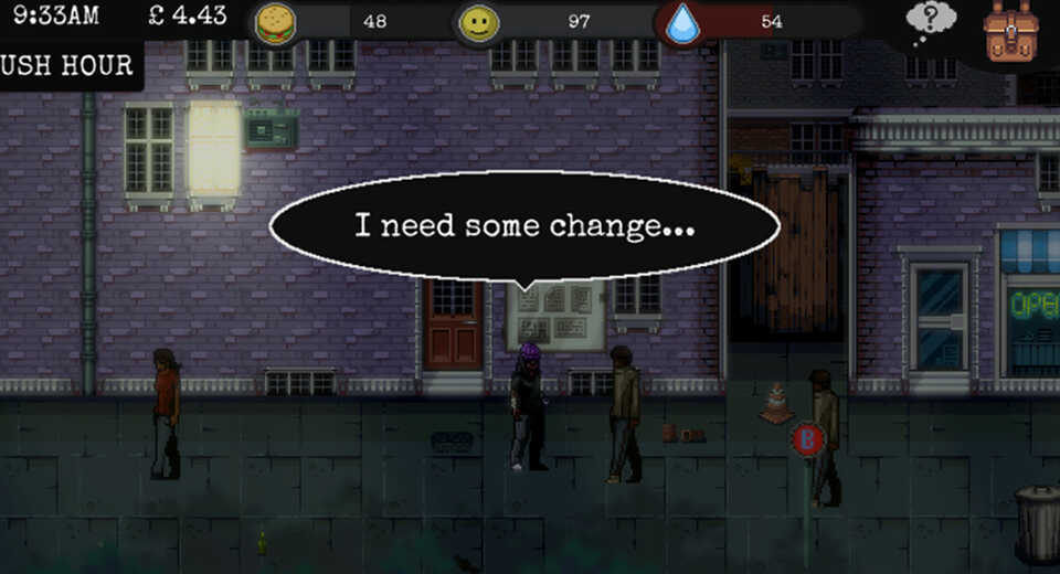 CHANGE: A Homeless Survival Experience is playable at EGX
