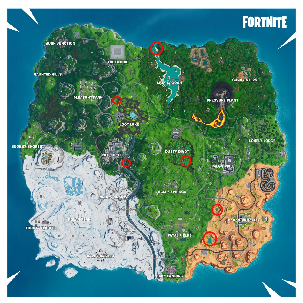 Fortnite All Beach Parties Locations Metabomb