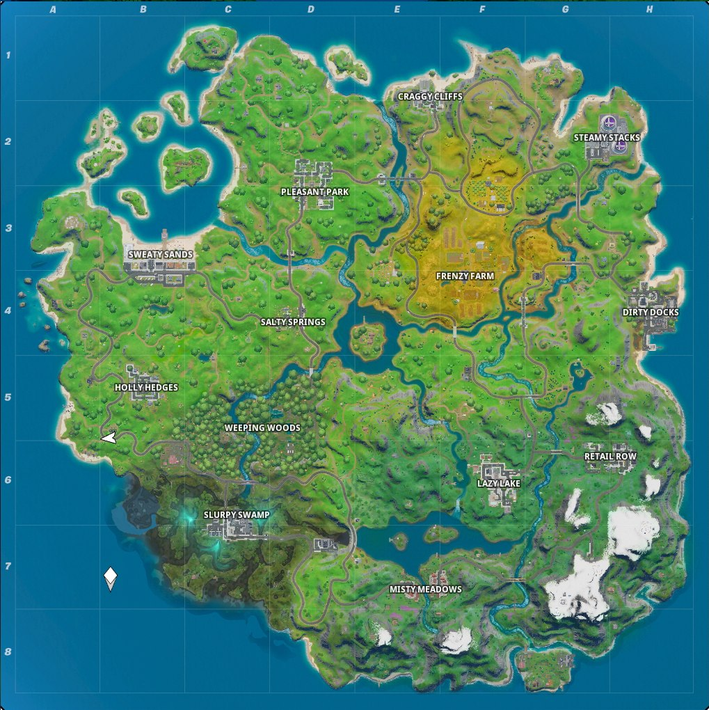 Fortnite Chapter 2 Map Named Locations And Landmarks
