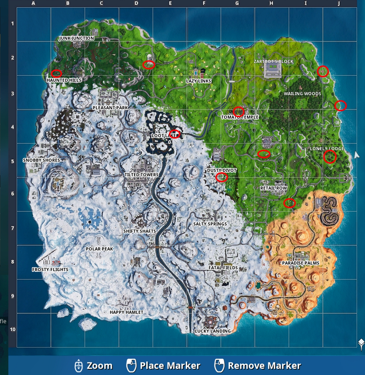 picture relating to Printable Fortnite Map called Fortnite: Golden Balloon sites direct Metabomb