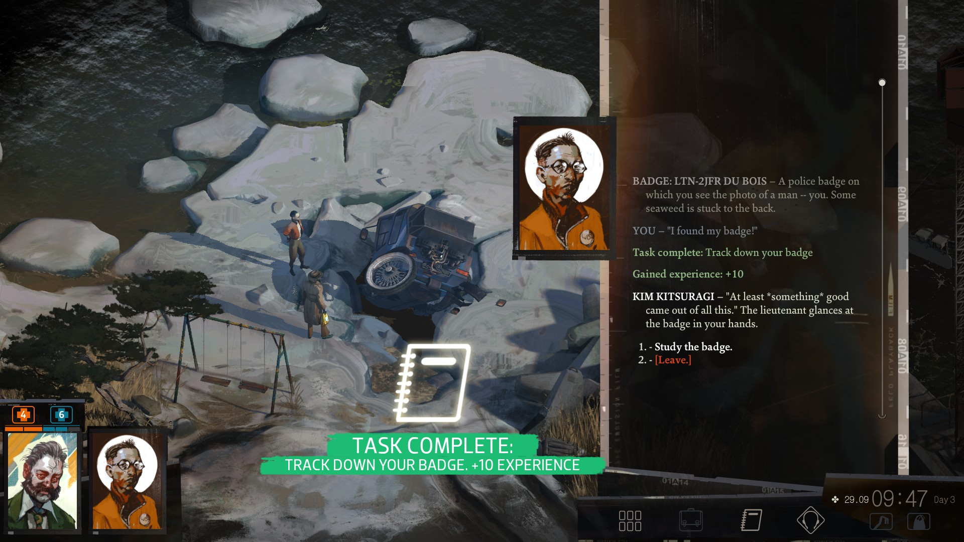 Disco Elysium How To Find Your Gun Badge And Bullets Usgamer