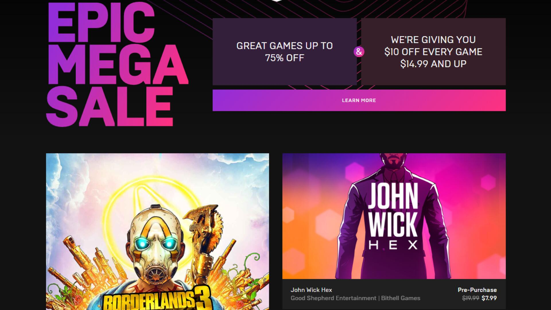 Epic Games Store Sale Starts Today With Huge Cuts and a $10 Epic Subsidy