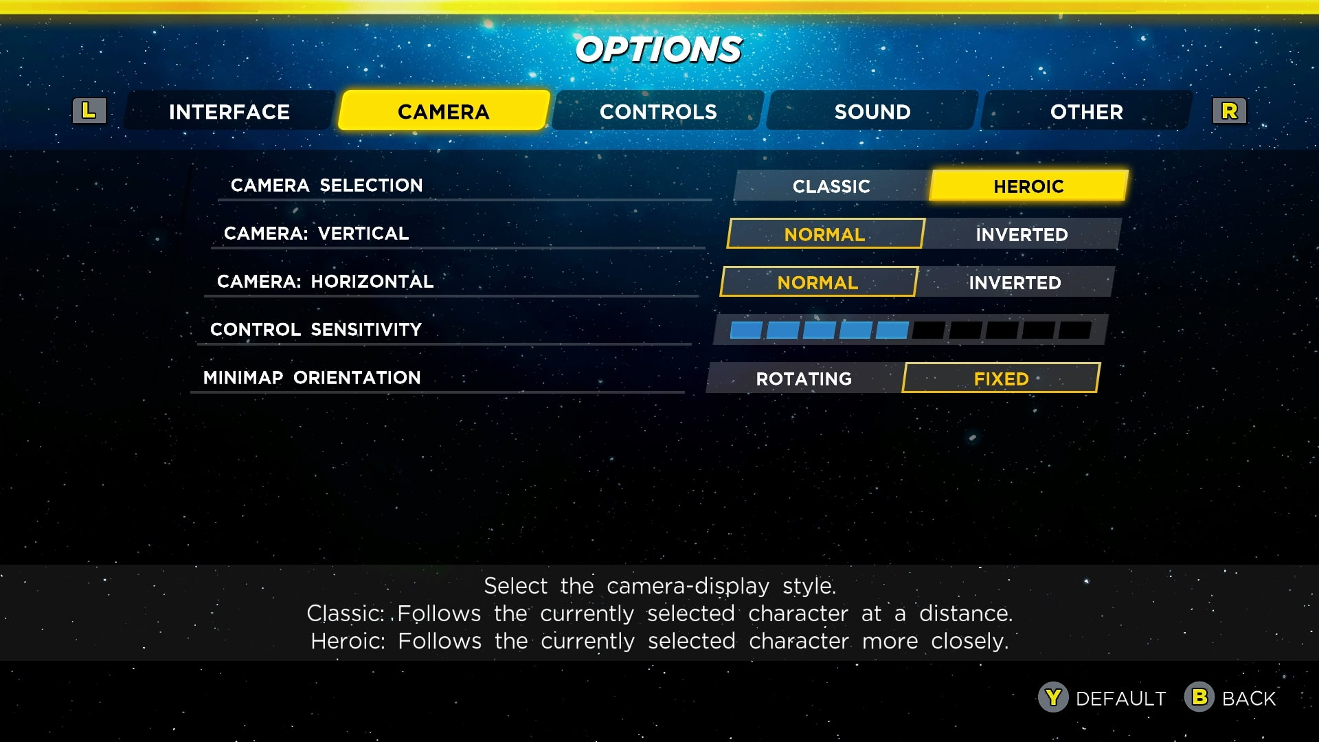 Marvel Ultimate Alliance 3: How to Change the Camera and