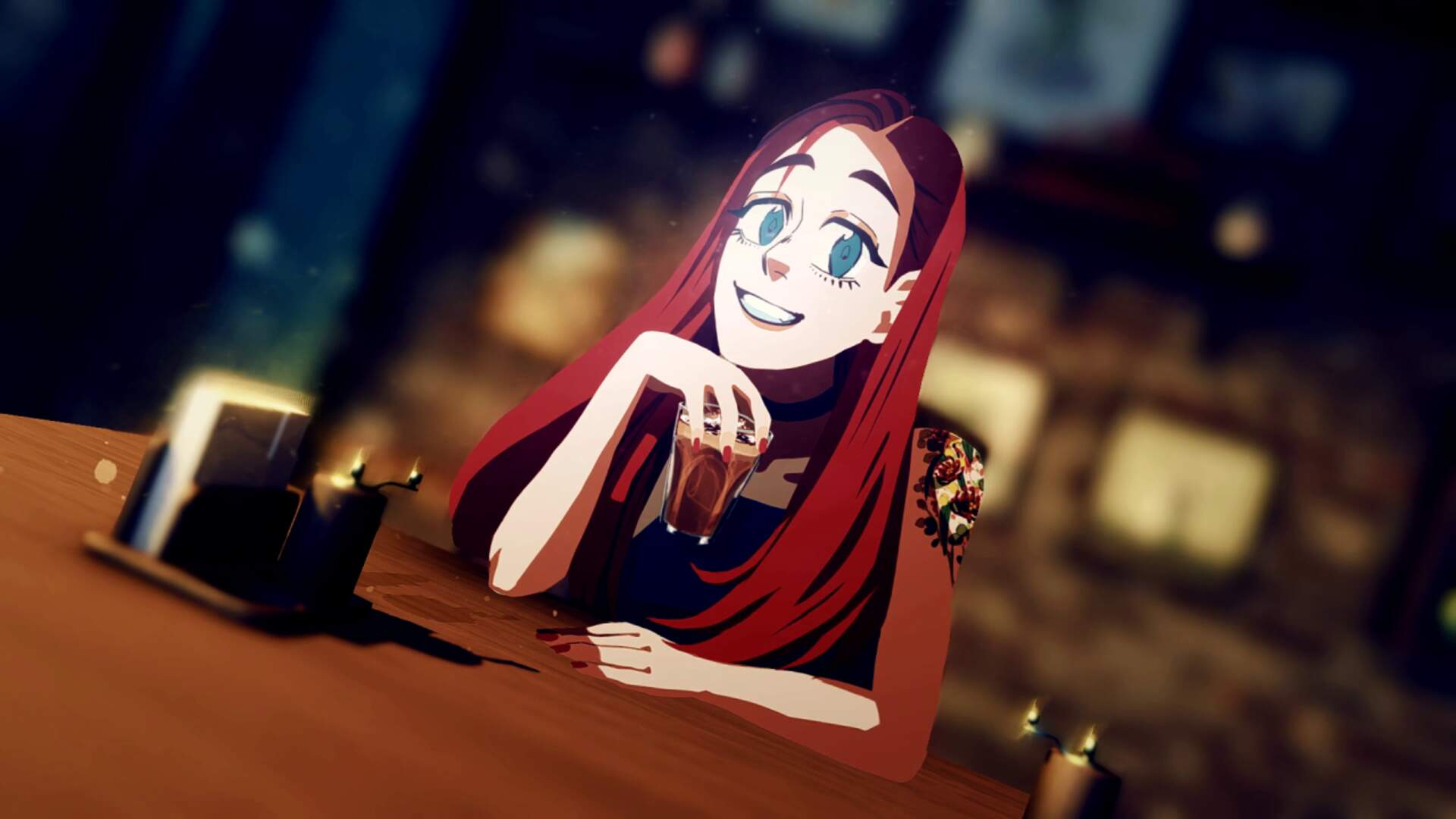 Necrobarista is an Introspective Game About a Supernatural Coffee Shop Coming to PC This August
