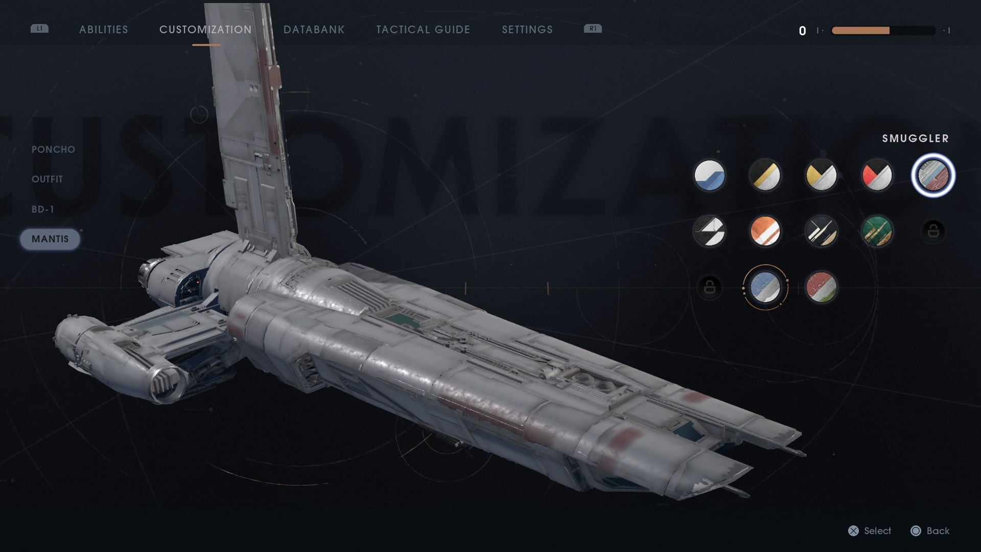 Where to Get All the Skins for the Mantis in Star Wars Jedi Fallen Order |  USgamer