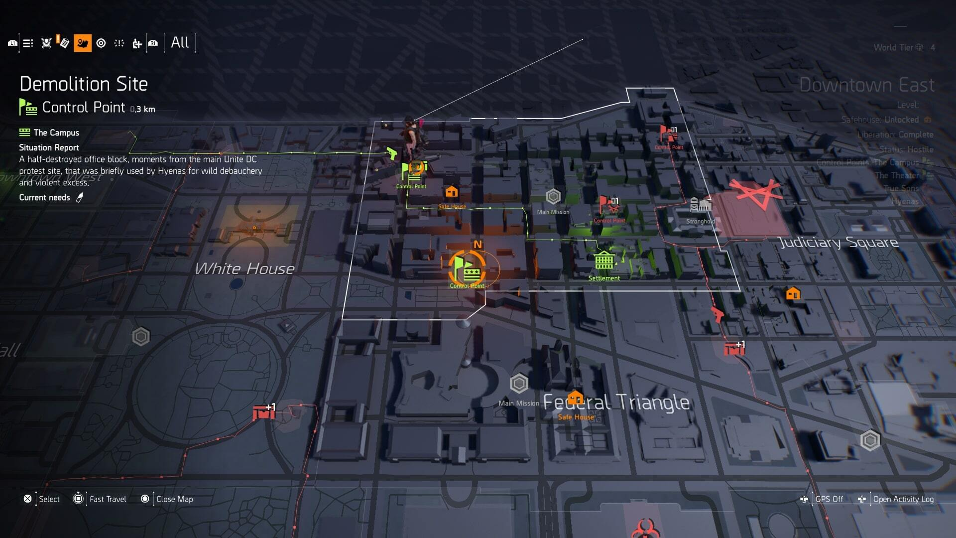 The Division 2 Control Points - How to Level Up Control Points and Get Alert Level 4 in The Division 2