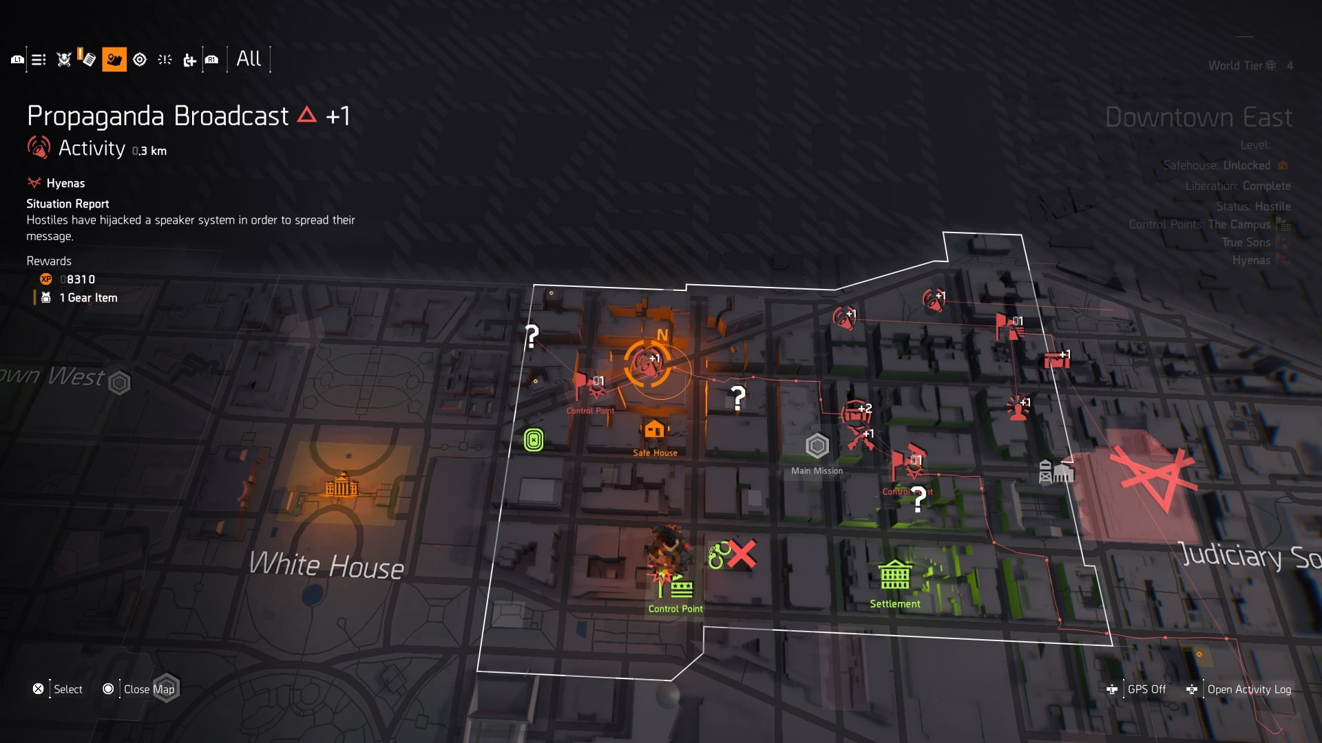 The Division 2 Control Points - How to Level Up Control