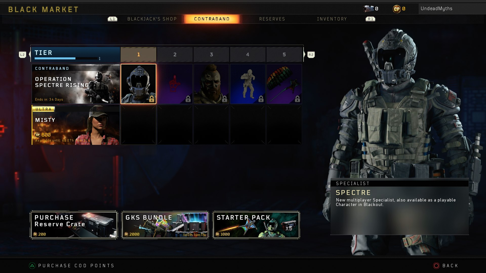 Black Ops 4 Operation Spectre Rising Update New Spectre