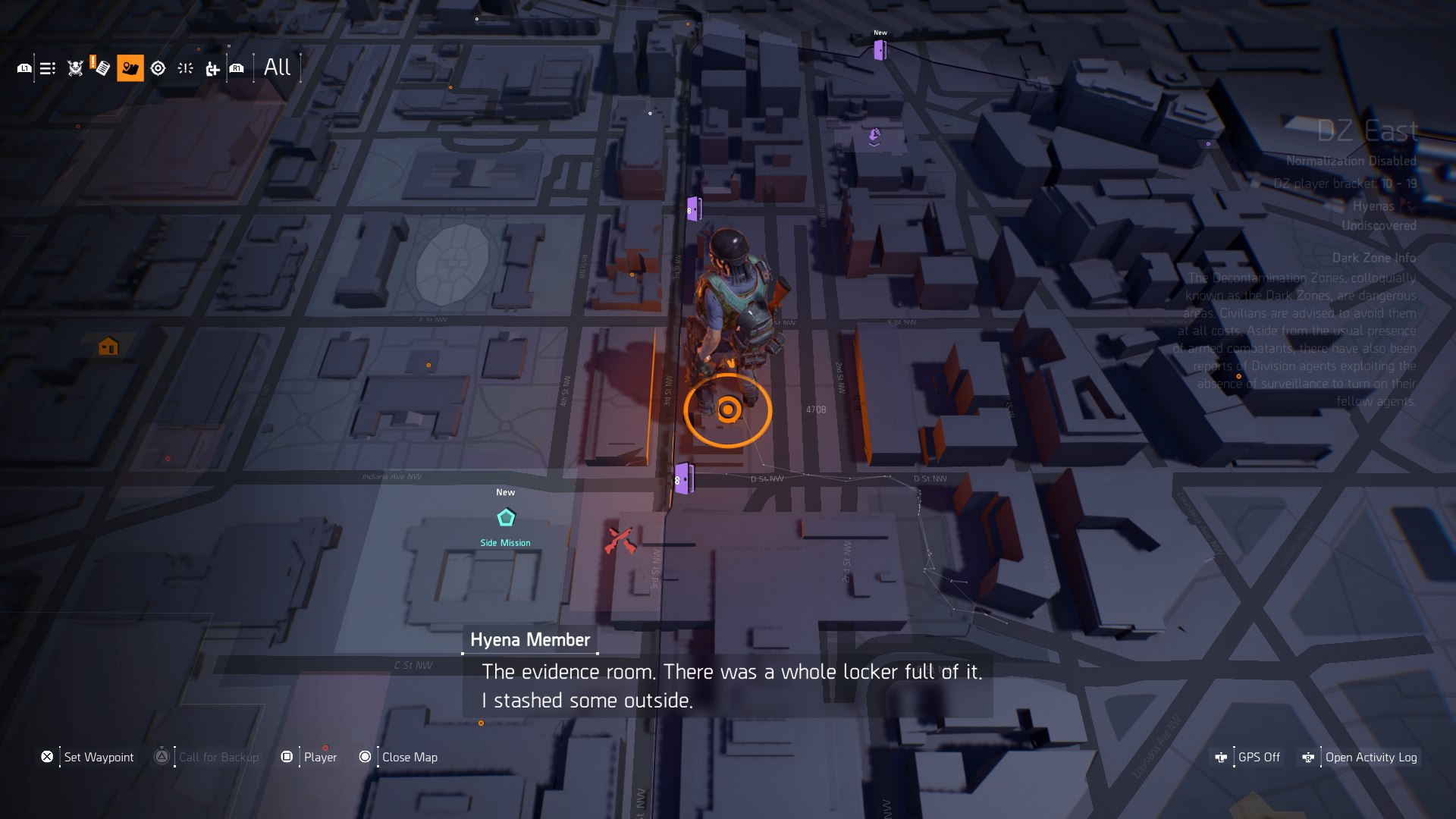 The Division 2 Dark Zone Chest Locations - East Zone Chests, Key
