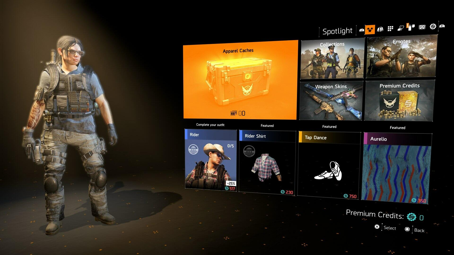The Division 2 Microtransactions - Premium Credit Prices and