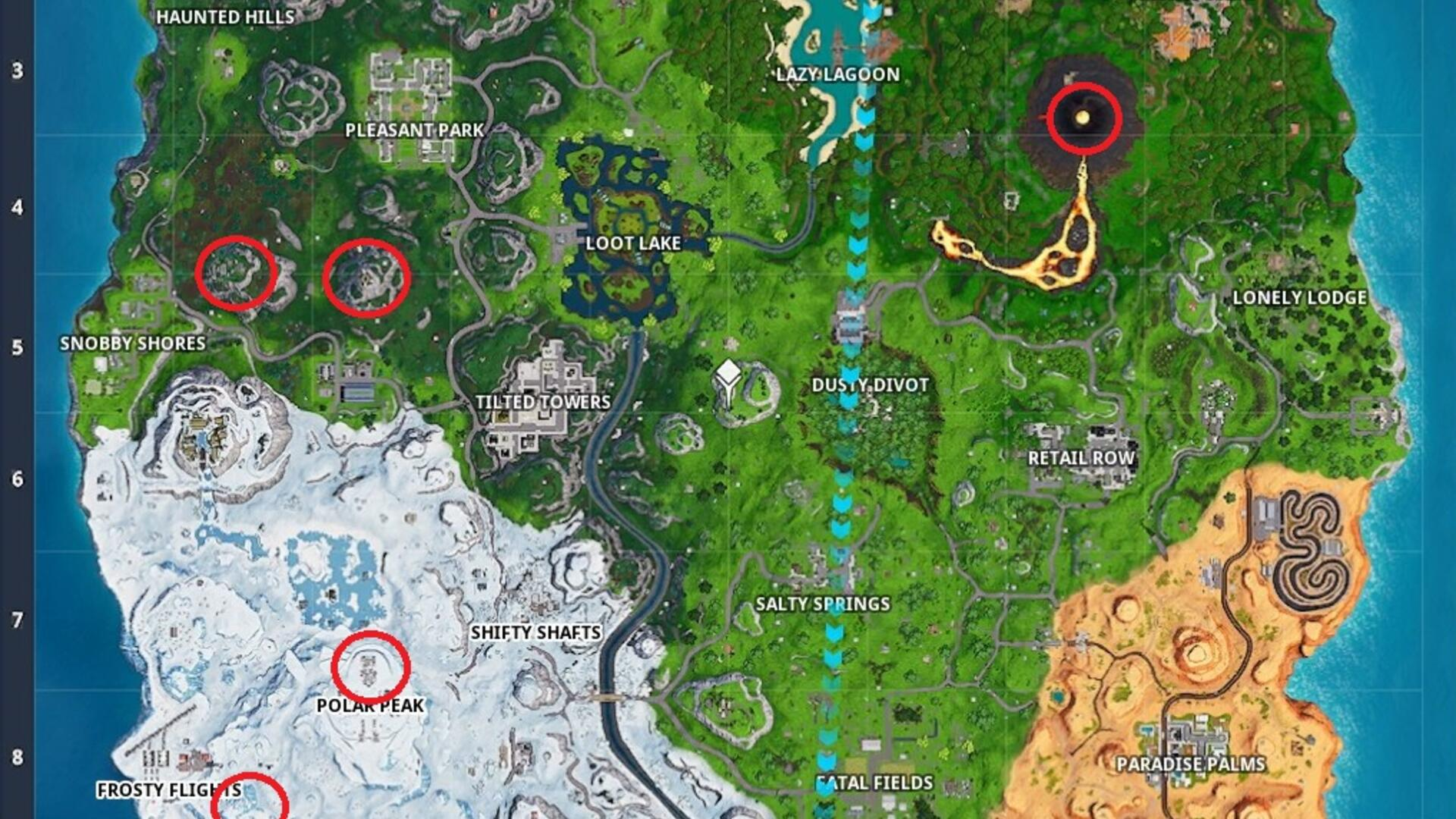 Fortnite 5 Highest Elevation Locations - How to Visit the 5 Highest Elevations in Fortnite