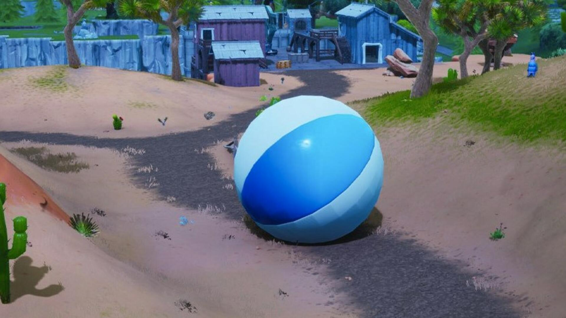 Fortnite Giant Beach Ball Locations - How to Bounce a Giant Beach Ball in Different Matches