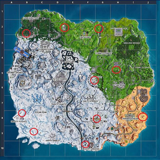 Fortnite Golden Balloon Locations - How to Find All the ...