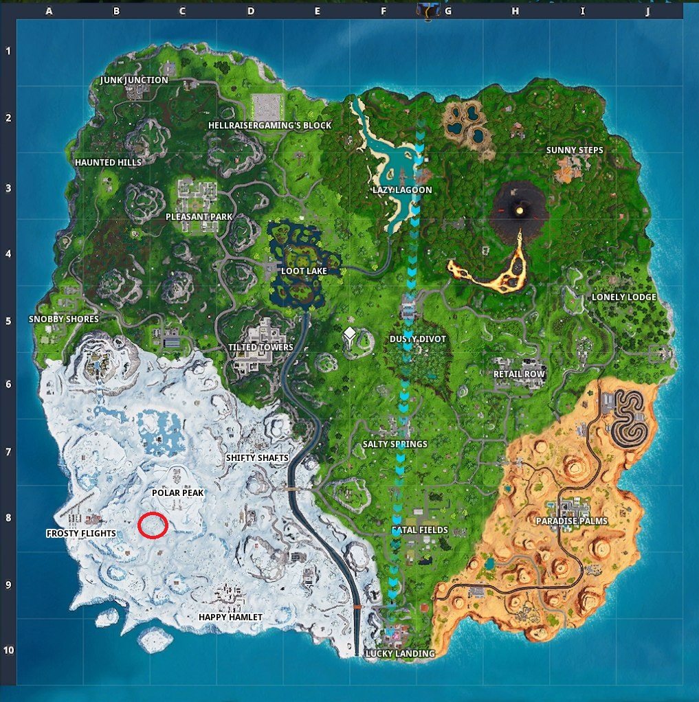 Fortnite Magnifying Gl - How to Search Where the ... on measure map, magnolia map, media map, zoom map, world map, information map, white map, magnetic map, metal map,