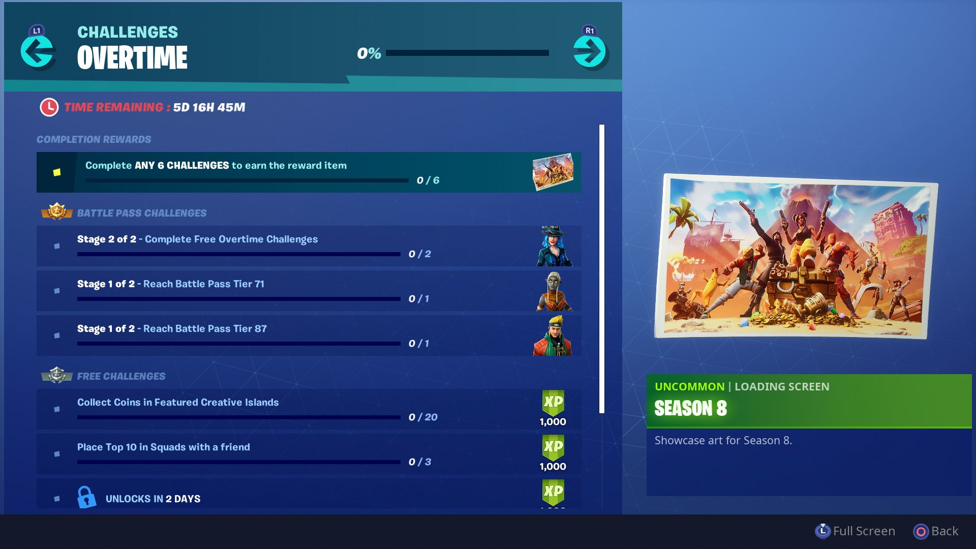 the current list of fortnite overtime challenges hirun cryer usg epic - when do fortnite challenges come out