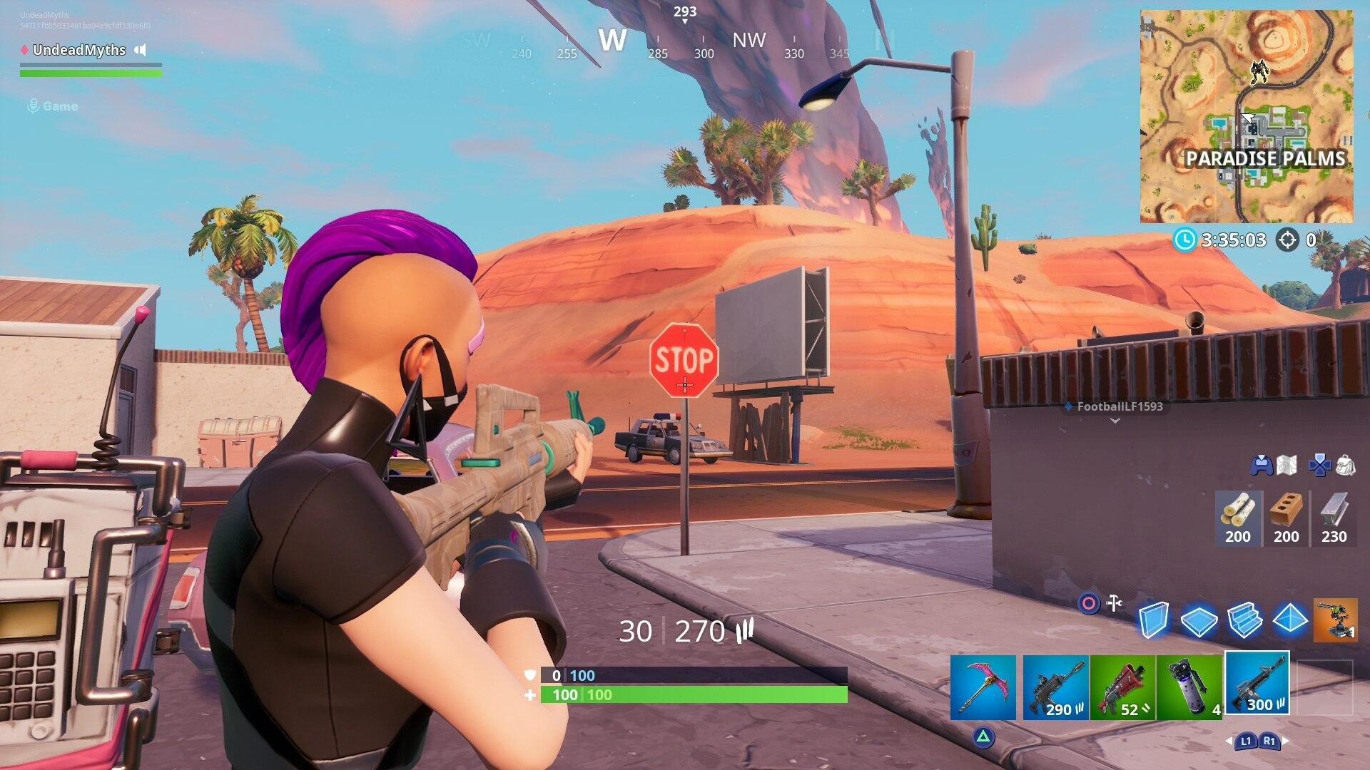 Fortnite Stop Sign Locations - Where to Destroy Stop Signs with the Catalyst Outfit