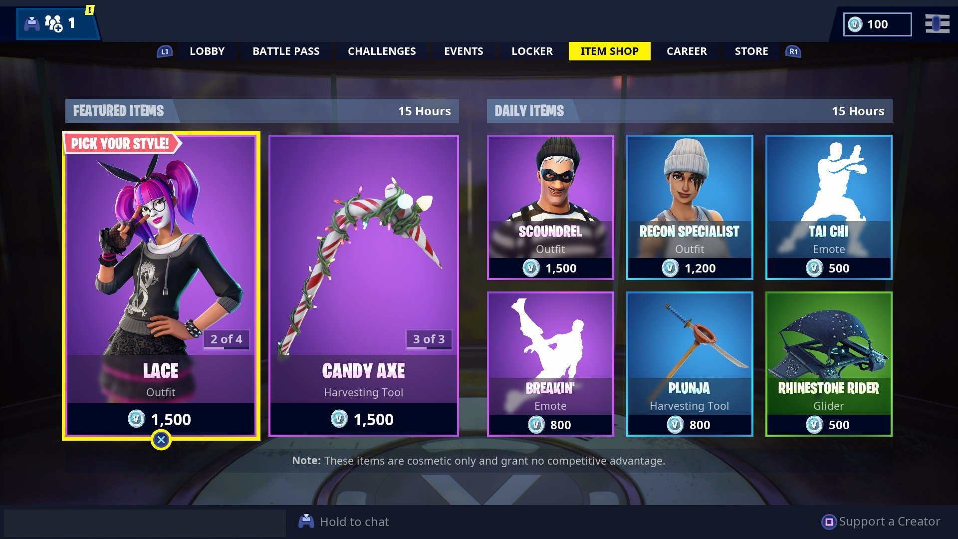 shop today fortnite