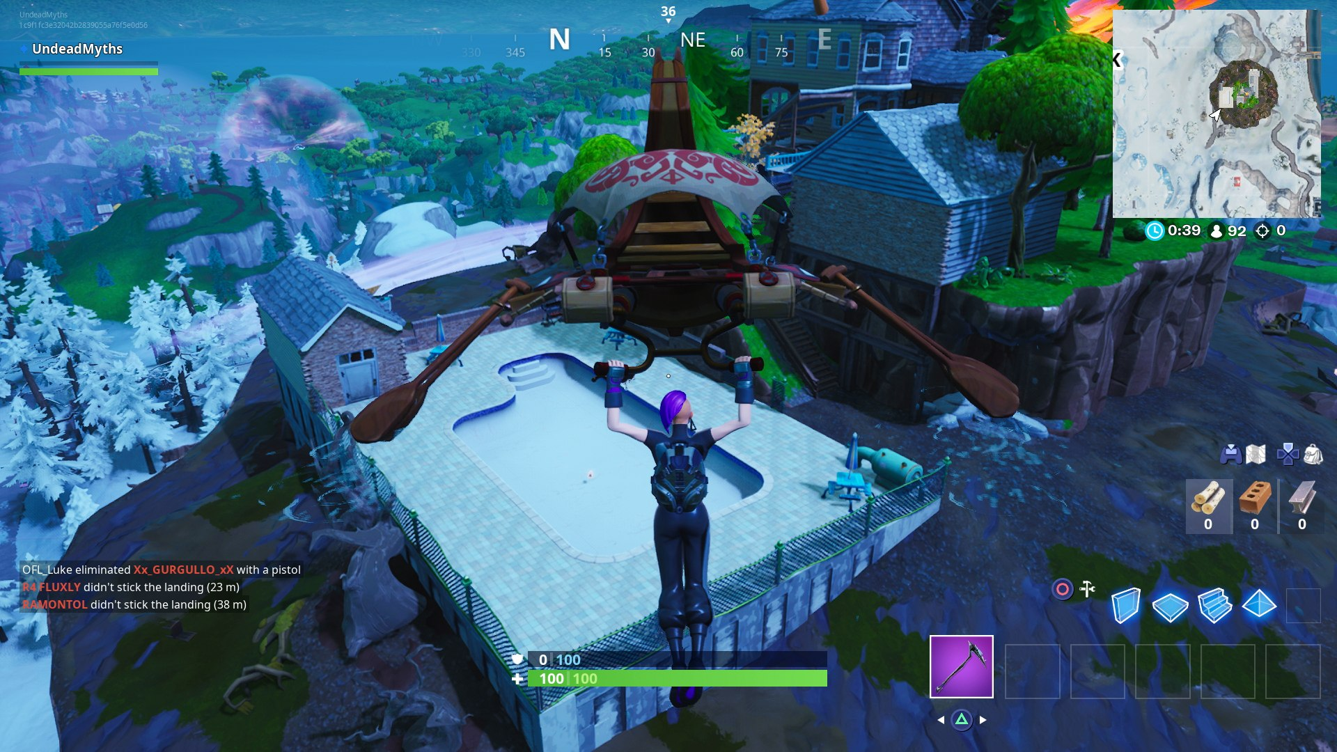 Fortnite Bat Statue Way Above Ground Pool Seat For