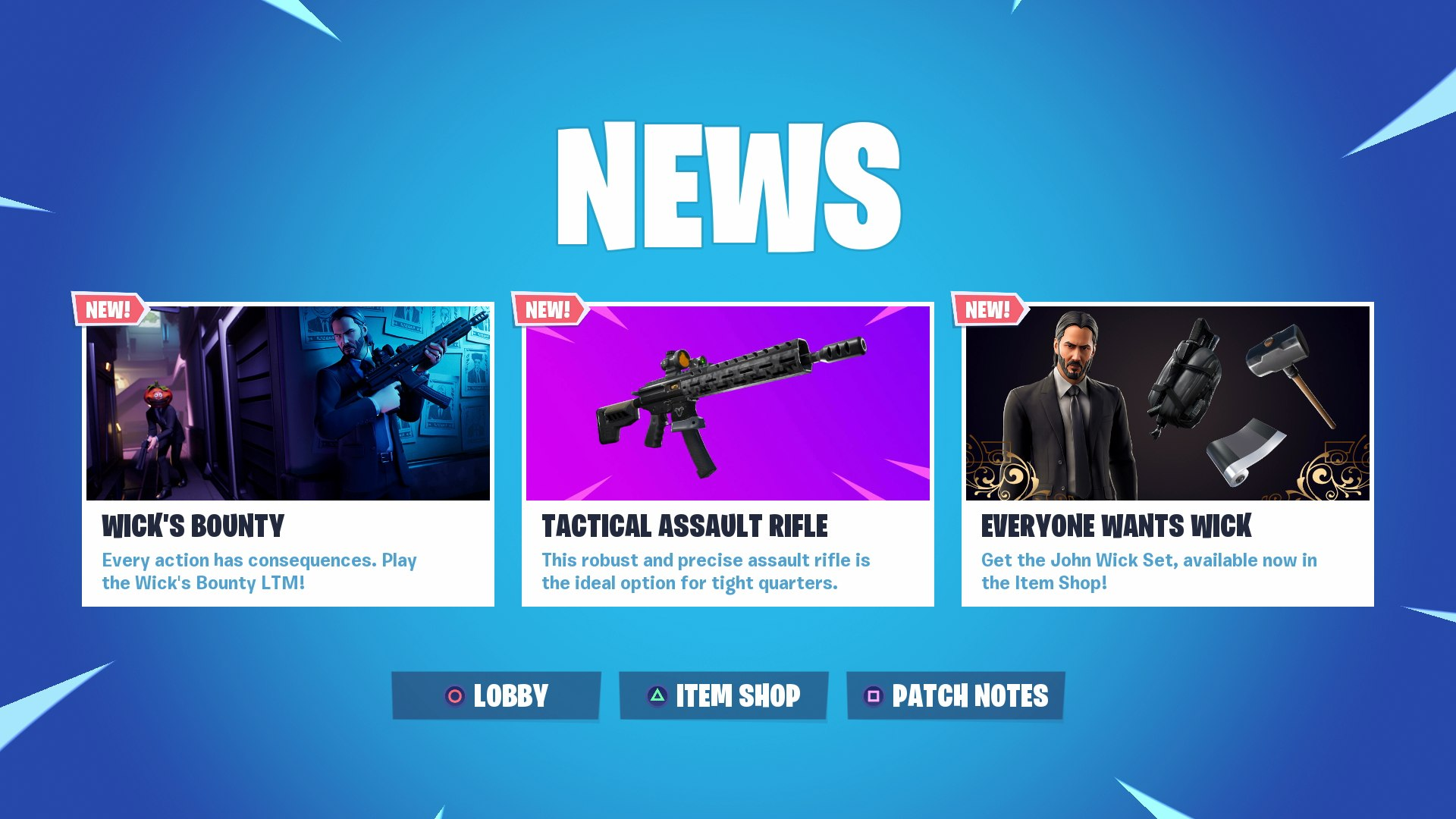 John Wick Fortnite Event Wick S Bounty Challenges John Wick Skin And Back Bling Usgamer