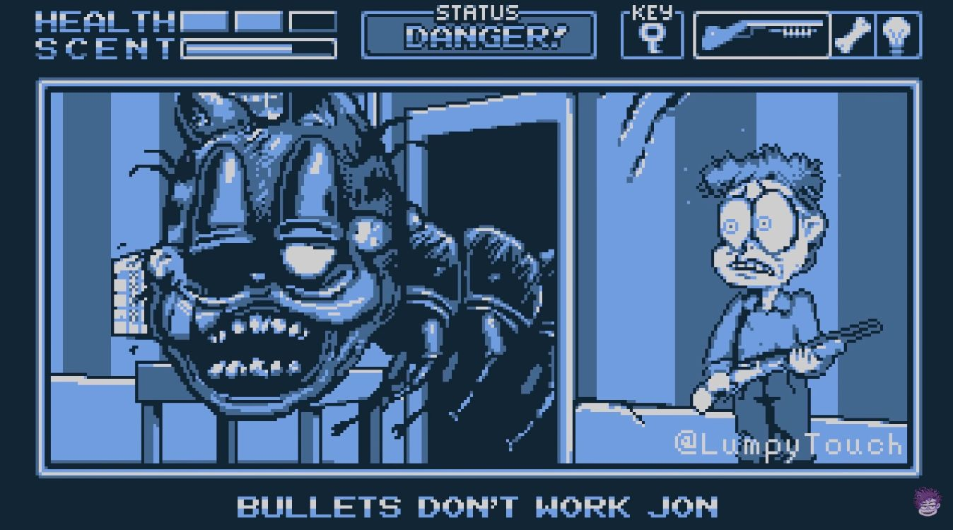The Nightmare Is Far From Over How The Artist Behind Garfield Gameboy D Dreamed Up His Four Color Horror Show Usgamer